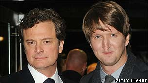 Colin Firth (l) with King's Speech director Tom Hooper