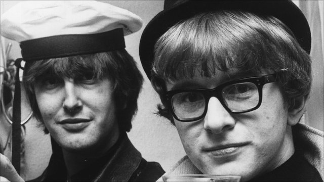 Peter Asher (right) and Gordon Waller (left) of 60s pop act Peter and Gordon