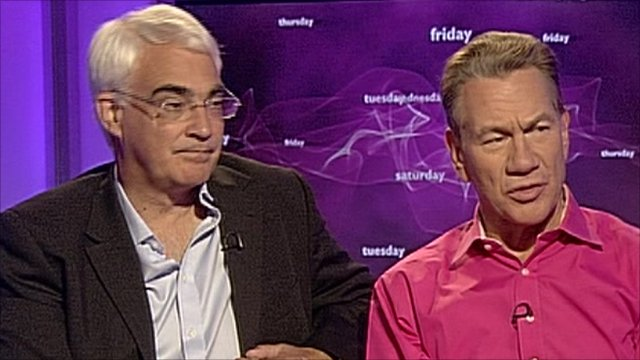 Alistair Darling and Michael Portillo