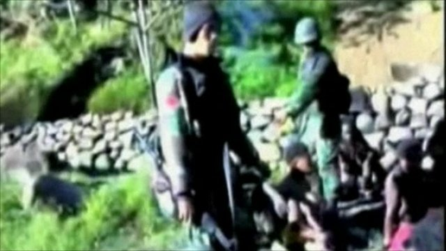 Indonesian soldiers in the video