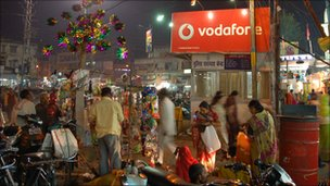 Vodafone sign in Bhopal, India