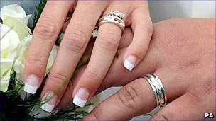Couple's wedding rings