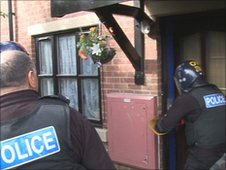 Police raid on flat