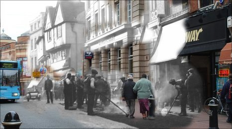 Coventry High Street - Then and now