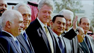 Middle East peace summit at Sharm el-Sheik 1996