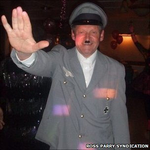 Mike Gardner in Hitler costume