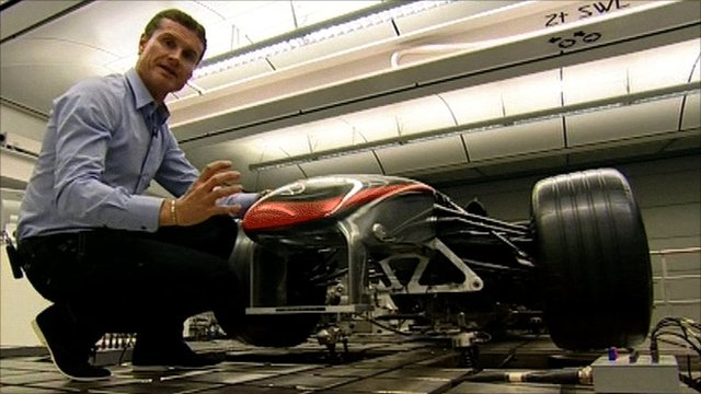 David Coulthard at McLaren technology centre