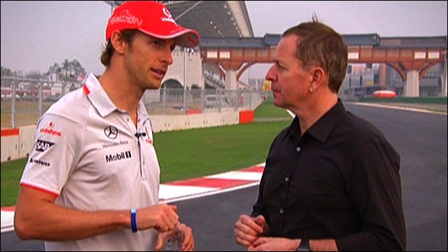 Jenson Button with Martin Brundle