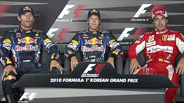 Top three drivers: Korean GP qualifying