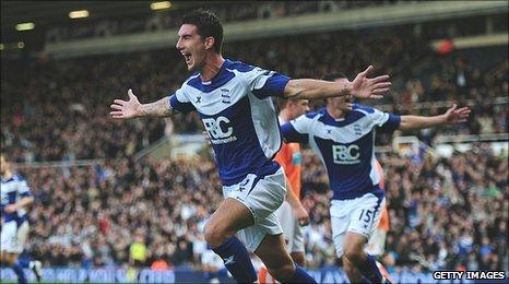 Liam Ridgewell celebrates