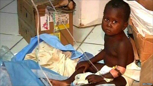 Toddler receiving treatment