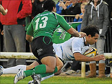 Isa Nacewa got Leinster's first try against Connacht