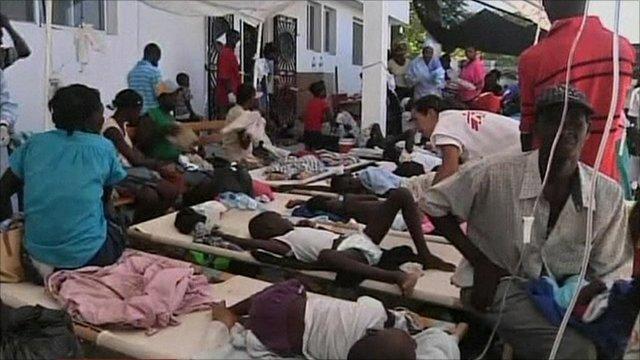 Haitians receiving treatment in St Marc