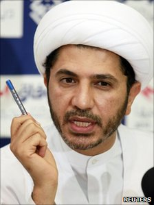 Sheikh Ali Salman, head of the al-Wifaq group