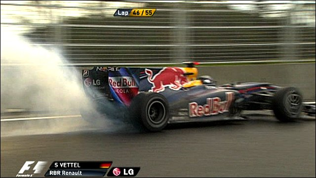 Sebastian Vettel's engine blows