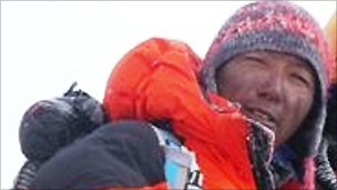 Chhewang Nima Sherpa on the slopes of Mount Everest earlier in 2010. Picture courtesy of Sherpa Shangri-la Treks and Expedition.