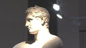 Statue in light