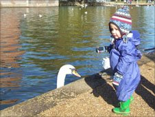 Toddler by the River Avon