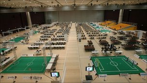 RoboCup arena, Aldebaran Robotics