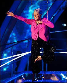 Ann Widdecombe dances the tango on Strictly Come Dancing 2010