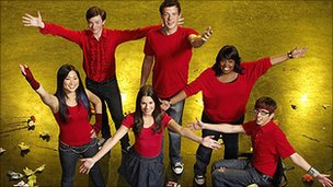Stars of the TV series Glee