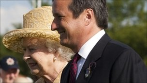 Charles Stisted with the Queen