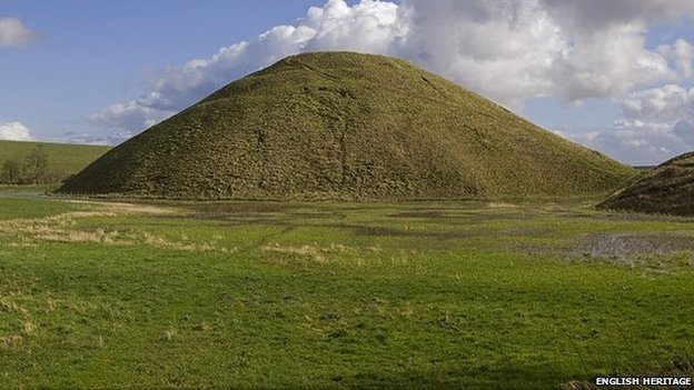 The steep sides and flat top of Silbury Hill may be newer than thought