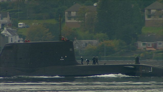 HMS Astute arrives back at Faslane