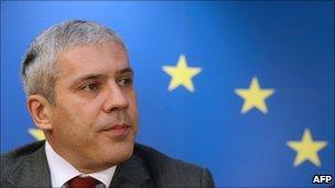 Serbian President Boris Tadic in Brussels - file pic