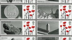 Remembrance Day-themed stamps