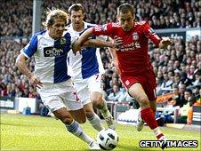 Blackburn lost 2-1 to Liverpool on Sunday
