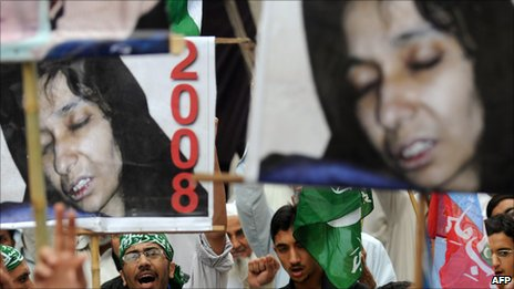Protest for Aafia Siddiqi in Pakistan 2010