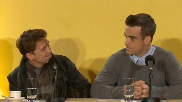 Mark Owen and Robbie Williams