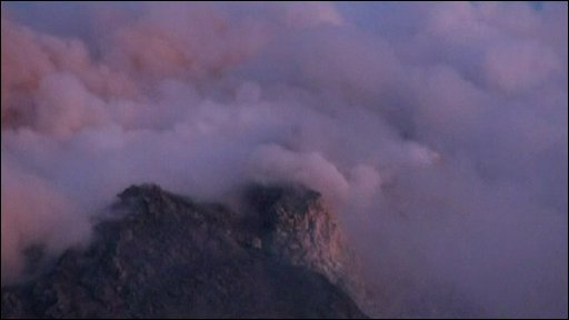 Mount Merapi in Indonesia