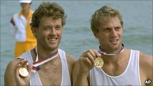 Andy Holmes (left) and Steve Redgrave (right)