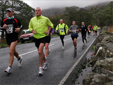 Runners in the Snowdonia Marathon