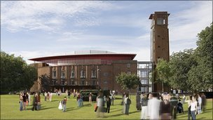 Artist's impression of new Royal Shakespeare Theatre