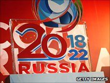 Russia's initial bid covered both 2018 and 2022
