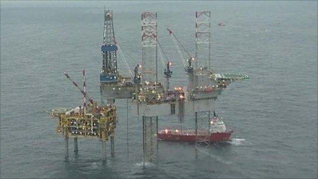 North Sea gas production platform
