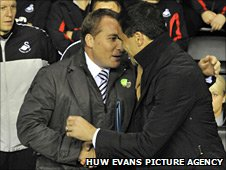 Roberto Martinez (right) and Brendan Rodgers