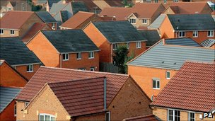 A housing estate in Derbyshire