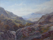 A View in the Lledr Valley, 1864 by James Jackson Curnock RCA