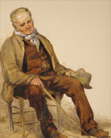 Old Farmer, late 1880s by Henry Clarence Whaite