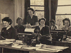 The typing pool for the Oils and Fats division of the Ministry of Food.  Photo given by Margaret Lloyd-Harvey