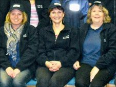 Sue Phillips (centre) with other street pastor volunteers