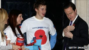 David Cameron and Royal British Legion members