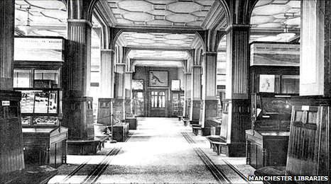 The geological section of Manchester Museum in 1895