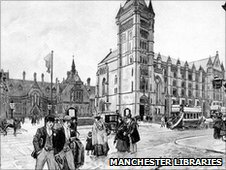 Manchester Museum and Owen's College in 1890