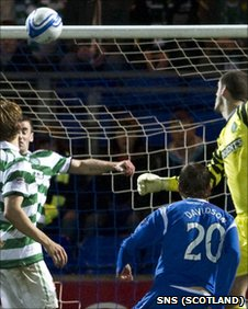 St Johnstone midfielder Murray Davidson headed home their second goal