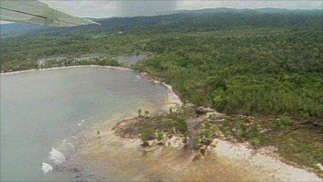 Tsunami-hit island